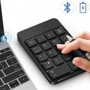 Bluetooth Number Pad, Wireless Numeric Keypad - Lekvey Rechargeable Slim 18-Key Number Keypad Keyboard Compatible for MacBook, iMac, OS, Windows, Laptop, PC Surface Pro, etc
