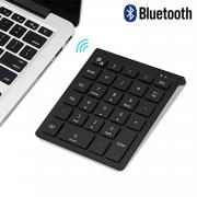 Bluetooth Number Pad, Lekvey Portable Wireless Bluetooth 28-Key Numeric Keypad Keyboard Extensions for Financial Accounting Data Entry for Smartphones, Tablets, Surface Pro, Windows, Laptop and More