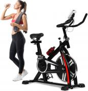 LEKVEY Recumbent Exercise Bike Indoor Cycling Stationary Bike with Adjustable Seat and Resistance, Pulse Monitor/Phone Holder (Seat Height Adjustment by Knob)